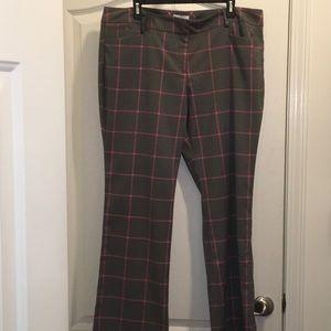Dress pants - gray and pink plaid
